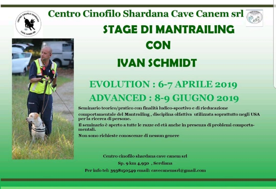 STAGE DI MANTRAILING CON IVAN SCHMIDT (ADVANCED)