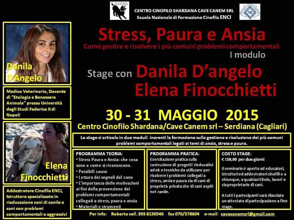 STAGE STRESS PAURA E ANSIA